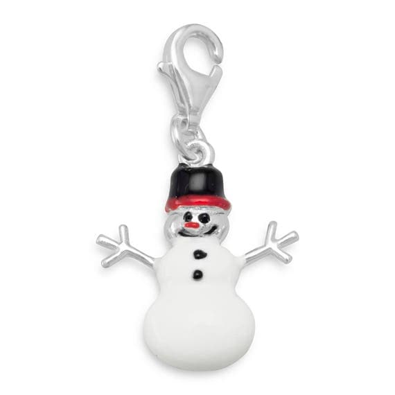 Snowman Charm with Lobster Clasp