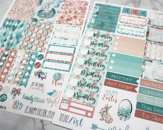 Planner Stickers - Weekly Planner Sticker Set - Erin Condren Life Planner - Happy Easter - Day Designer- Functional stickers - Easter 2018