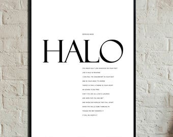 HALO by Depeche Mode. Instant Download. Depeche Mode press. Digital printing. Scandinavian style. Gift for him. Gift for her.