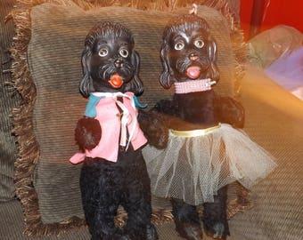 Set of 2 Vintage Gund Poodle dolls