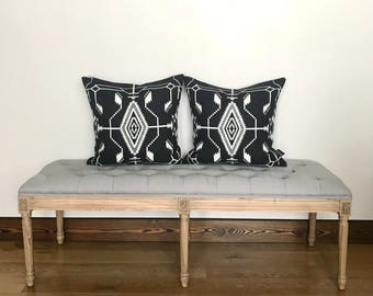 Pendleton Wool Pillow Cover, black and white, Tsi Mayoh
