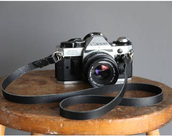 Leather camera strap, 4 colours, FREE personalisation