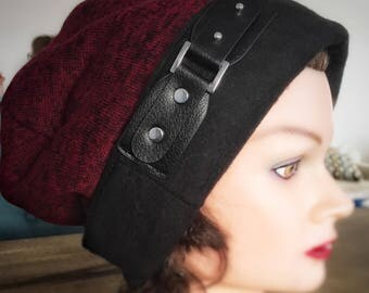 Red and Black Reversible Beanie