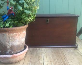 Vintage wooden trunk.