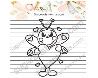 Valentine's day PYO Cookie stencil little bee NB600188