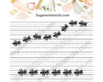 Ants trail cookie stencil Nb900732
