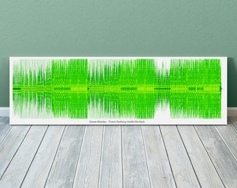 Theres Nothing Holdin Me Back Sound Wave Art Inspired By Shawn Mendes - 24x8 Inch Canvas, Poster or Digital Image - Free P&P