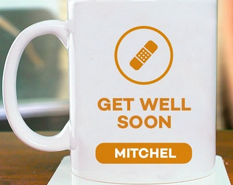 Get Well Soon Personalized Mug With Name Printed On It