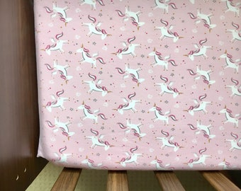 Cot  bed sheet ,Magical unicorns* unicorns cot bed Jersey fitted sheet,cotbed sheets,toddler bed,kids gift, nursery decor ,unicorn bedroom