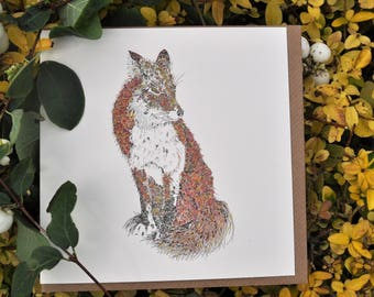 Fox Greeting card 6 x 6 ''