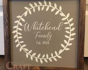 Family Name Est Sign | Last Name Family Sign | Family Name Sign | Wreath Last Name Sign | Wreath Name Sign | Farmhouse Name Sign | Est Sign