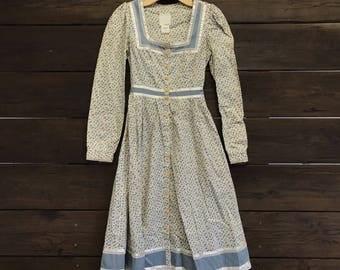 Vintage 1970s/70s Gunne Sax Floral Print Dress