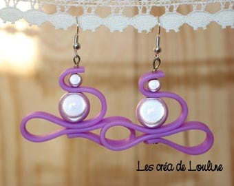 Purple silicone earrings