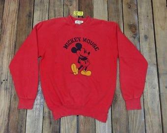 MICKEY MOUSE camiseta roja grande Vintage años 90 adolescentes de Disney Mickey Mouse dibujos animados Walt Disney suéter Minnie Mouse Disney Jumper talla L