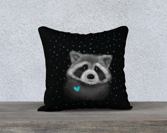"Pillow cover ""Raccoon"""