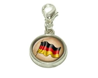 Vintage German Flag Germany Dangling Bracelet Pendant Charm