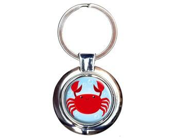 Cute Crab Keychain Key Ring