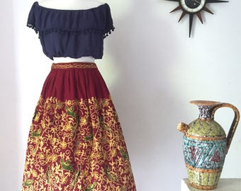 1970s embroidered Indian skirt