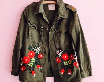 Vintage embellished Army Jacket