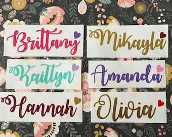 Name Decal - Custom Name Decal - Name Sticker - Any Name Decal - Yeti Name Decal - Yeti Decal - Yeti Decal for Women - Bridesmaid Gift