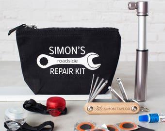 Personalised Cycling Repair Kit Gift Set
