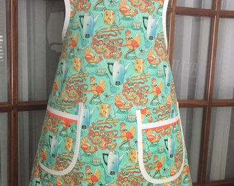 Retro Kitchen Print Apron - Vintage Apron - Kitchen Print Apron - Retro Apron - Retro Kitchen Apron - Old Fashion Apron