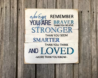 Always Remember....... - Recycled Timber Sign