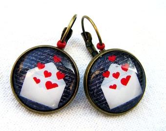 """""""Love Message"""" Stud Earrings"""