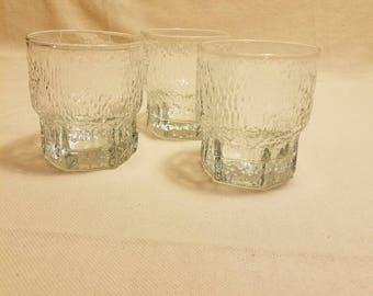 Vintage Aslak by IITTALA Set of 3 Old Fashioned Glasses