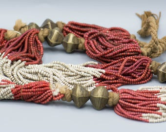 Orissa/India Old White Heart Necklace