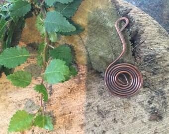 Copper swirl pendant