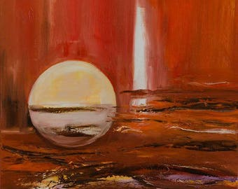 Painting abstract contemporary size medium