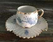 Cute little miniture vintage tea cup and daucer  miniture tea duo  miniture tea cup set