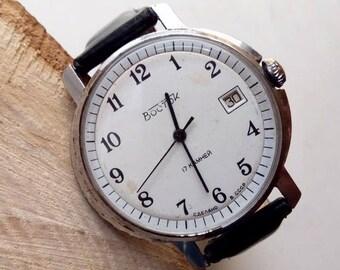 Vitage Soveit watch, Vostok 17  jewels  - USSR Men's Watch Wostok - 1970s, mens watch, mens watch, ussr mens watch, mechanical watch