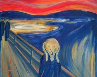The Scream after Edvard Munch - Hand painted Reproduction in Oils