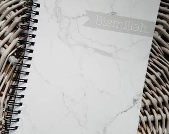NEW COLLECTION notebook Bismillah Marble grey