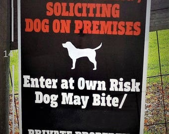 ONLY LEGAL Beware of Dog Sign / No Trespassing Sign - 14 x 10 inch