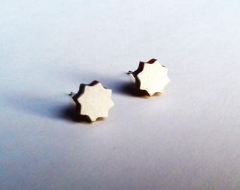 White Star earrings