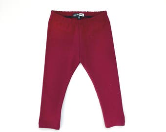 Baby & Toddler Burgundy Maroon Leggings, baby leggings, toddler leggings, toddler girl fashion, toddler clothes