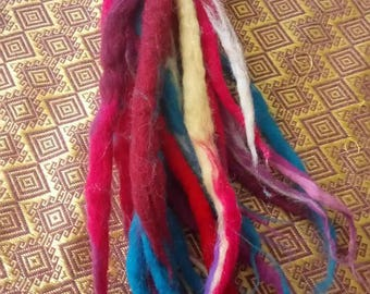 Woollen dreadlock extensions