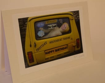 An original photo-art Birthday card in the style of Only Fools and Horses