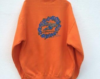 Vintage Spit On Surfing Sweatshirt / Big Logo / Surf / Surfing / LongBoard / Surfboard/ Hawaiian / Hang Ten /