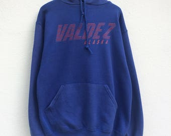 Vintage 90s Russel Athletic Hoodie Sweater / MEDIUM / WOMENS /Vintage Sweatshirt / Pull Over / Retro / American Cartoon / Spell Out /
