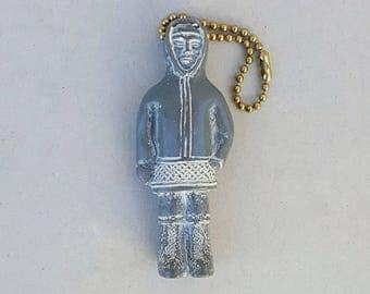 Tundra Keychain Zipper Pull Faux Soapstone Made in Canada