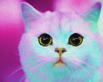 Cat lover gift Crazy cat lady gift Cat portrait of cat custom portrait Cat illustration Cat memorial custom pet portrait cat loss gift