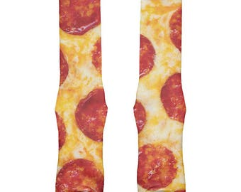 Pepperoni Pizza All Over Crew Socks