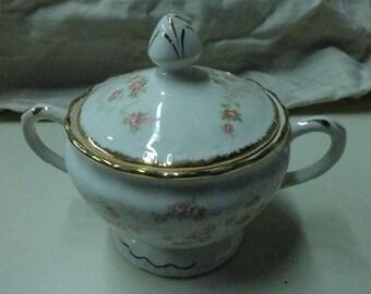 Vintage Sugar Bowl Pope Gosser USA China Florence Pattern #3025