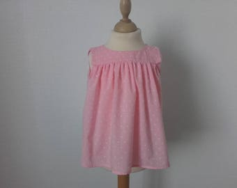 The top without sleeves, 4t, satin rose