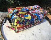 Toiletry Bag - Avengers and Marvel Comics- Valentine's Day Gift - Pencil and Electronics case- Iron Man- Captain America- Hulk- Thor