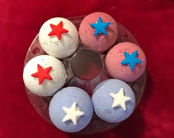 Patriotic Bath Bombs // Set of 6